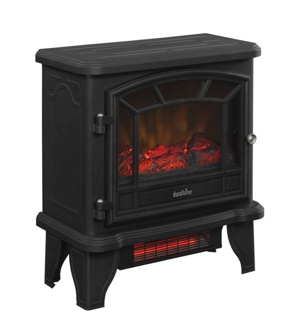 Duraflame Freestanding Infrared Quartz Fireplace Stove, Black 1