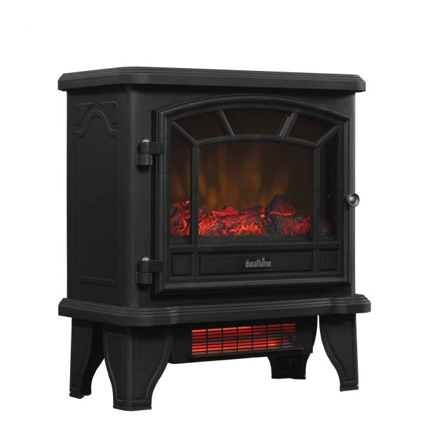 Duraflame Freestanding Infrared Quartz Fireplace Stove, Black 2