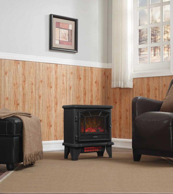 Duraflame Freestanding Infrared Quartz Fireplace Stove, Black 3