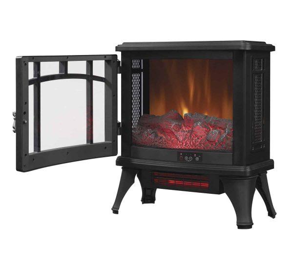 Duraflame Infrared Quartz Fireplace Stove, Black 1