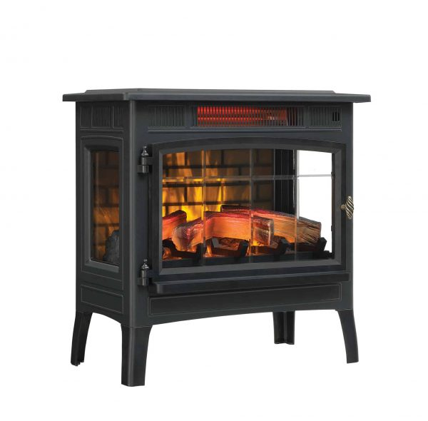 Duraflame Infrared Quartz Fireplace Stove with 3D Flame Effect, Black 1