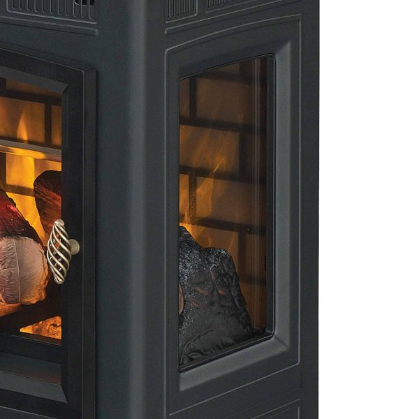 Duraflame Infrared Quartz Fireplace Stove with 3D Flame Effect, Black 5