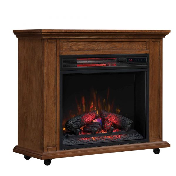 Duraflame Rolling Mantel with Infrared Quartz Fireplace