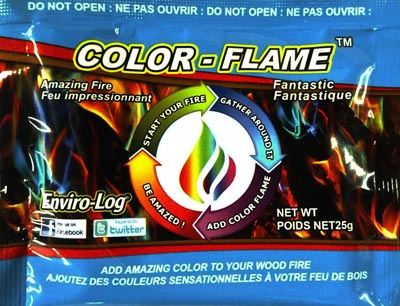 Dynabrade Enviro-Log Color Flame Color-Changing Fire Packets 1