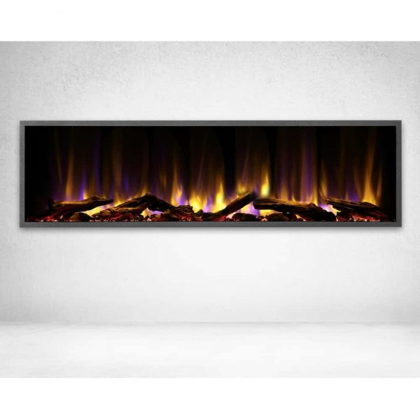 Dynasty 57 in. LED Wall Mounted Electric Fireplace 1