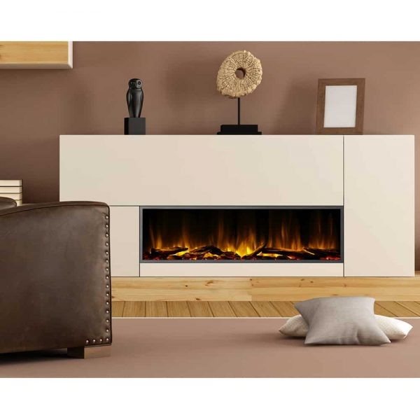 Dynasty 57 in. LED Wall Mounted Electric Fireplace 2