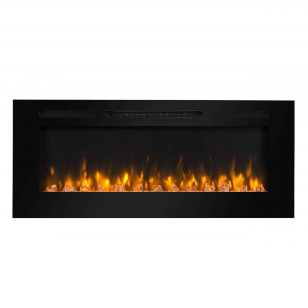 Dynasty 60 in Built-in LED Electric Fireplace Tempered Glass Frame 2
