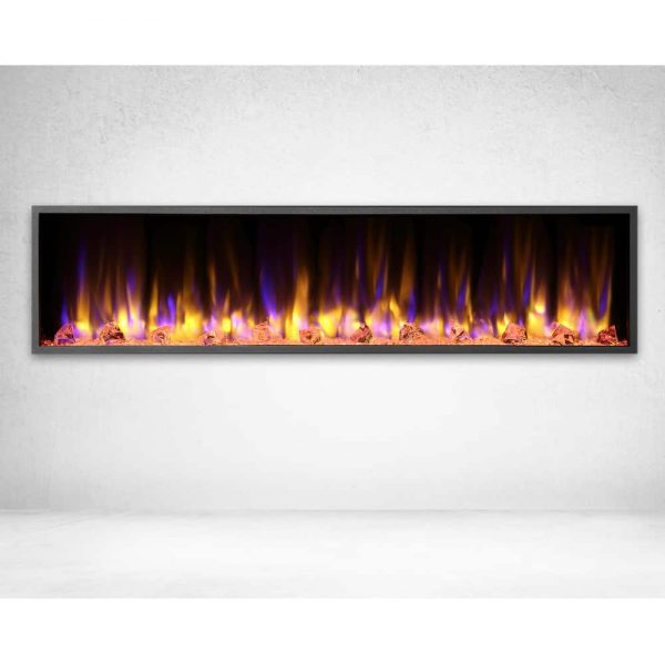 Dynasty 64 in. LED Wall Mounted Electric Fireplace 1
