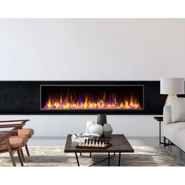 Dynasty 64 in. LED Wall Mounted Electric Fireplace 2