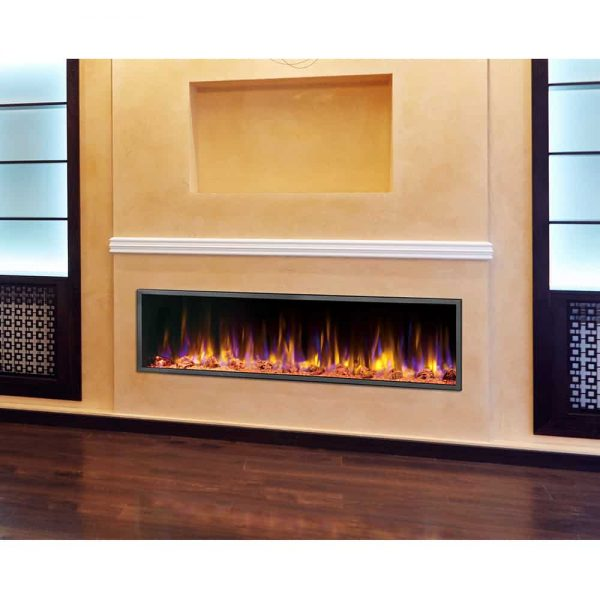 Dynasty 64 in. LED Wall Mounted Electric Fireplace 3