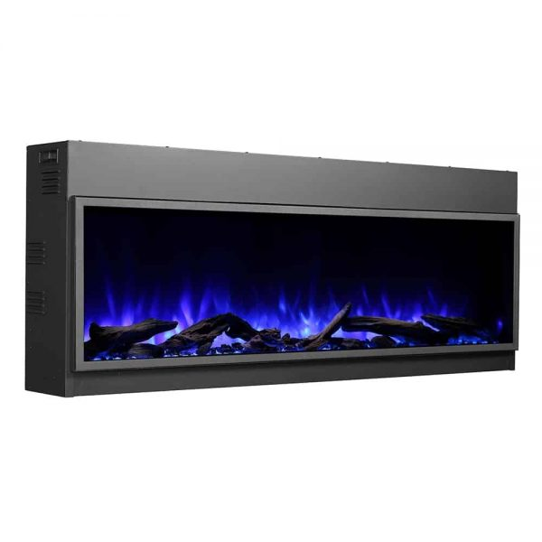 Dynasty 64 in. LED Wall Mounted Electric Fireplace 4