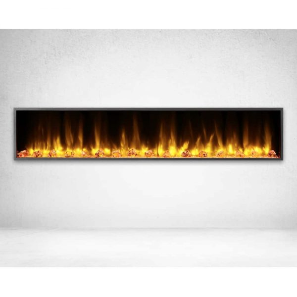 Dynasty 80 in. LED Wall Mounted Electric Fireplace 1