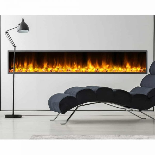 Dynasty 80 in. LED Wall Mounted Electric Fireplace 2