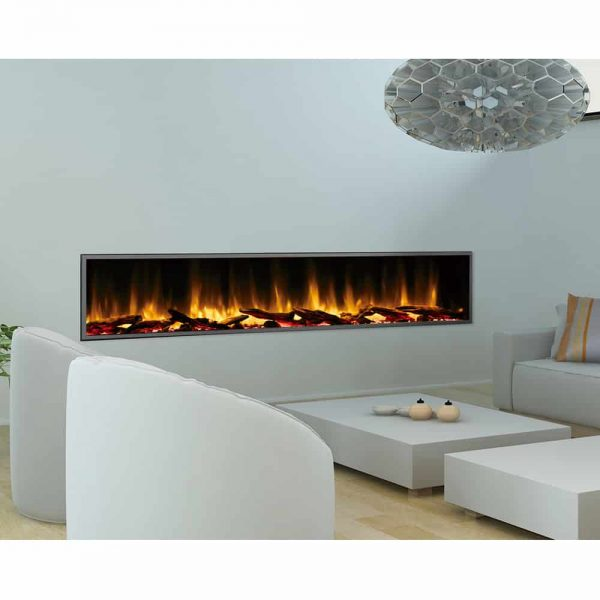 Dynasty 80 in. LED Wall Mounted Electric Fireplace 3