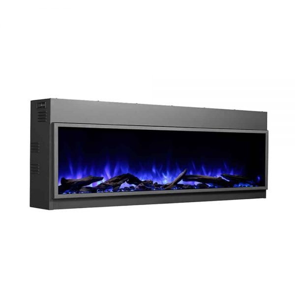 Dynasty 80 in. LED Wall Mounted Electric Fireplace 4