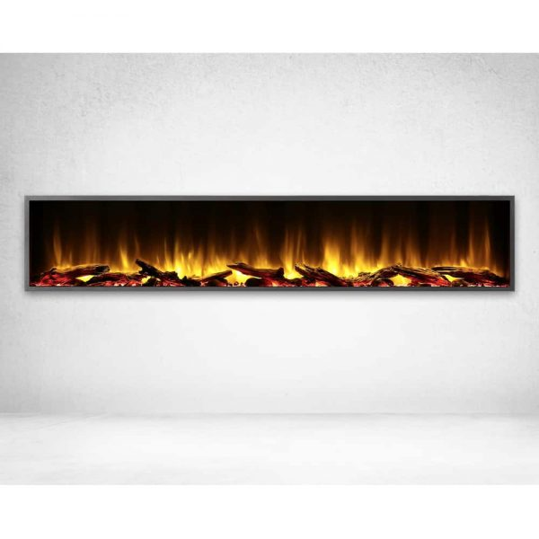 Dynasty 80 in. LED Wall Mounted Electric Fireplace
