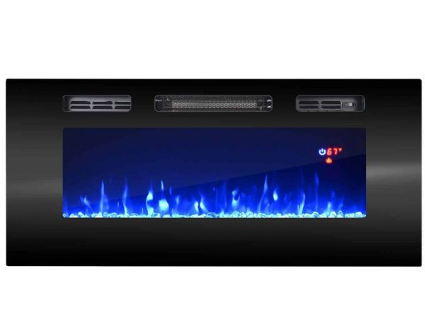 """EFire1 40"""" Electric Fireplace Recessed Wall Mounted Heater"""