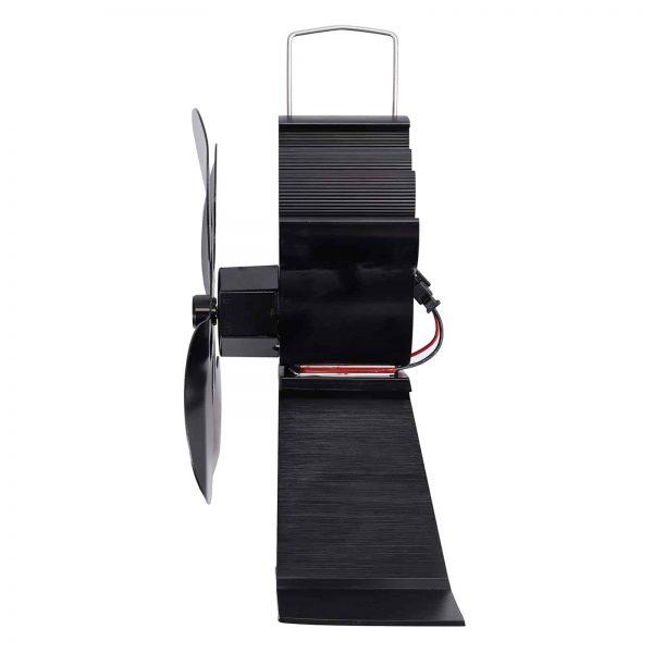 ESYNIC Black Eco Friendly 4 Blade Stove Fan Heat Powered Log Wood Burner Top Fan 1