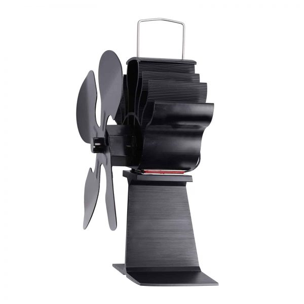 ESYNIC Black Eco Friendly 4 Blade Stove Fan Heat Powered Log Wood Burner Top Fan 5