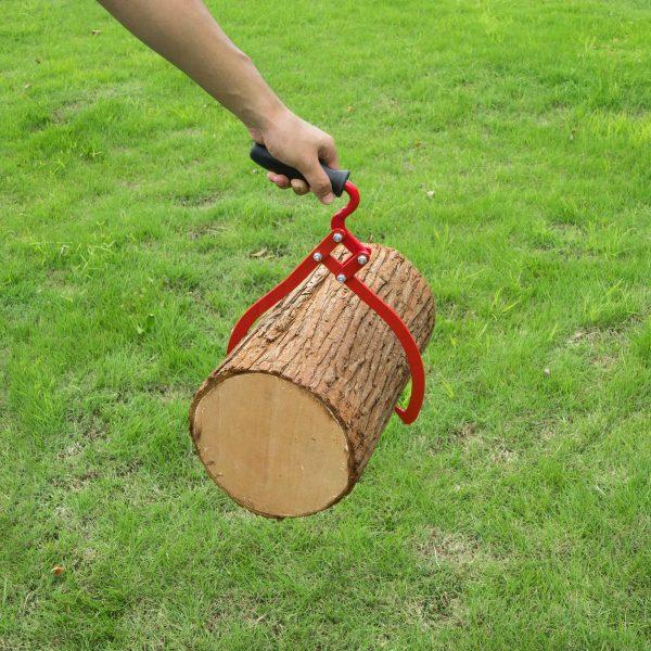 Earth Worth   Log Tongs   Log Lifting Hook  Log Carrier   16 Inch   Red 5