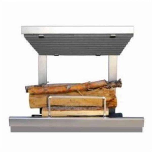 Earths Flame EF36SS Hybrid Clean Burn Wood Fireplace System - Including Natural Gas Log Lighter