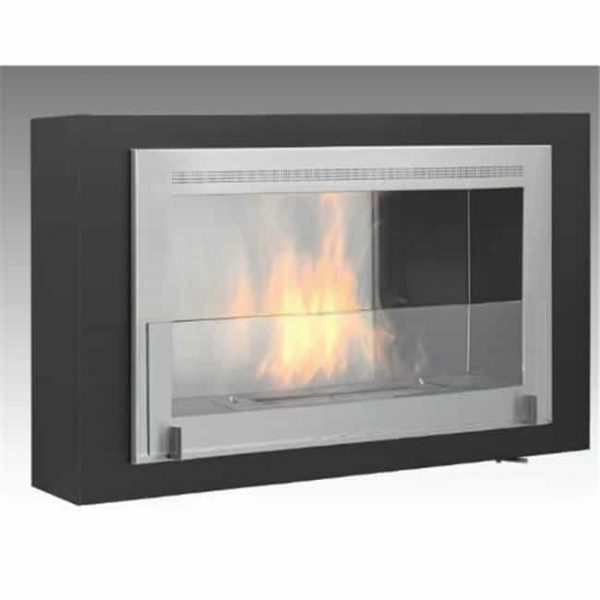 Eco-feu WU-00170-BB 42 in. Ul Listed Wall Mounted & Built - In Ethanol Fireplace
