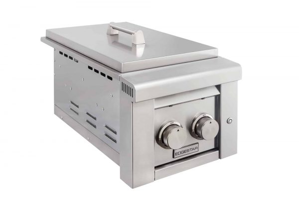 "EdgeStar ESB2LP Stainless Steel 26000 BTU 13"" Wide Liquid Propane Side Burner"