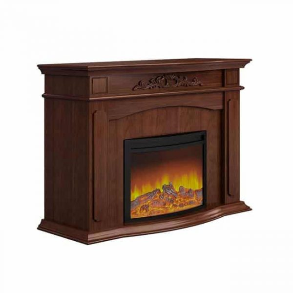 Electric Fireplace - Brown