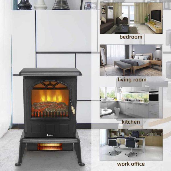 500W Freestanding Fireplace
