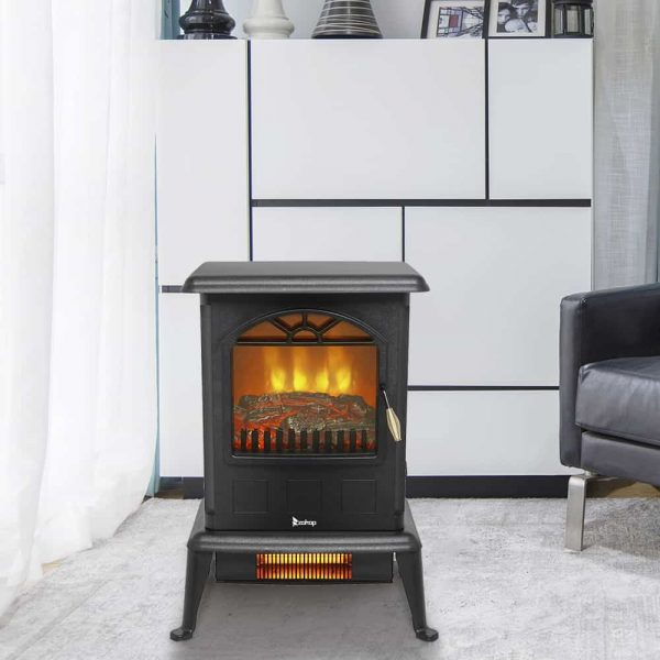 Log Fuel Effect Realistic Flame Electric Space Heater