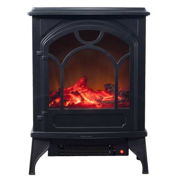 Electric Fireplace-Indoor Freestanding Space Heater with Faux Log and Flame Effect by Northwest 1