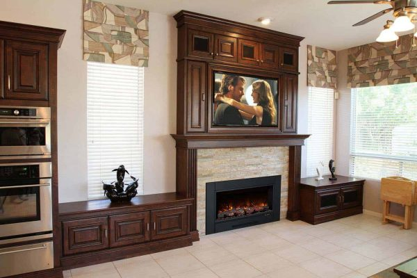 "Electric Fireplace Insert with 38"" x 24"" Trim 1"