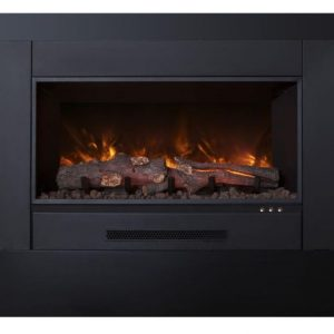 """Electric Fireplace Insert with 38"""" x 24"""" Trim"""