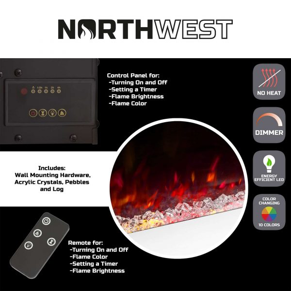 With Multiple Decorative Options and Remote Control by Northwest (50-inch