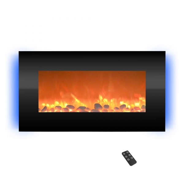 Electric Indoor Fireplace-Wall Mounted with 13 Backlight Colors