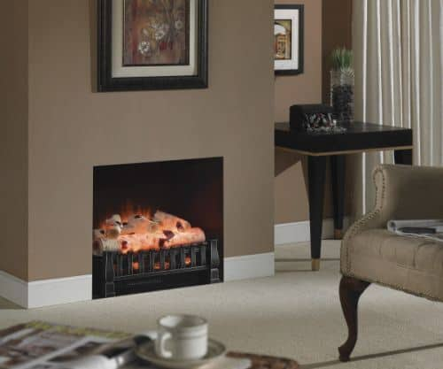 Electric Infrared Log Set with Birch Logs 1