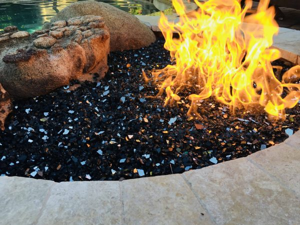 "Element Black Reflective 1/4"" Fire Glass, 10 lbs 2"