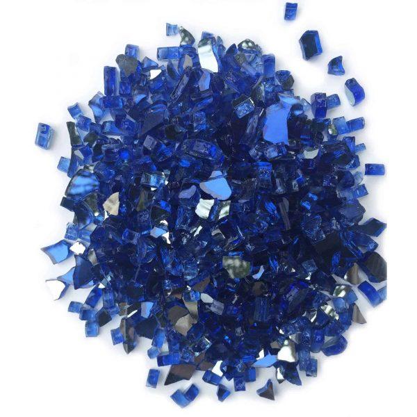 """Element Cobalt Blue Reflective 1/4"""" Fire Glass 1"""