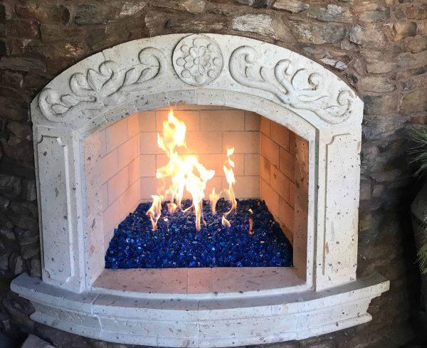 """Element Cobalt Blue Reflective 1/4"""" Fire Glass 2"""