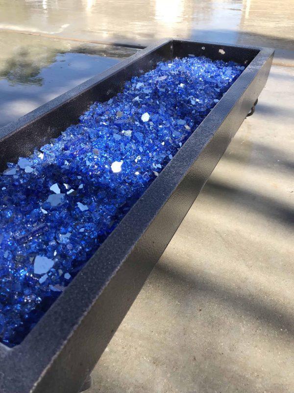 """Element Cobalt Blue Reflective 1/4"""" Fire Glass"""
