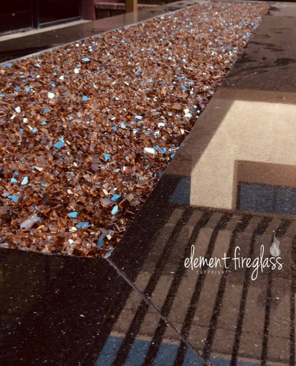 """Element Copper Reflective 1/4"""" Fire Glass, 10 lbs 1"""