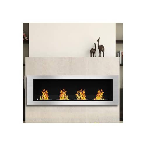 Elite Flame Luxe Ventless Wall Mount Bio-Ethanol Fireplace