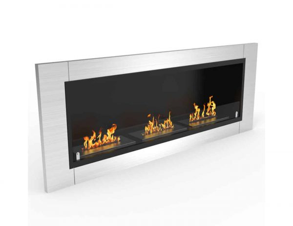 Elite Lenox 54 Inch Ventless Built In Recessed Bio Ethanol Wall Mounted Fireplace 1