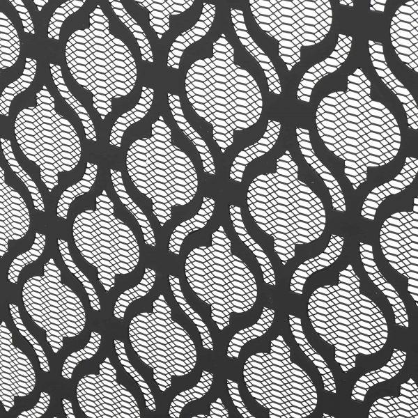 Elmer Single Panel Iron Fire Screen, Black 3