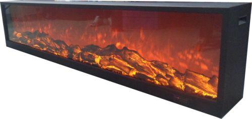Emblazon 96 Wall Length Fireplace - Black