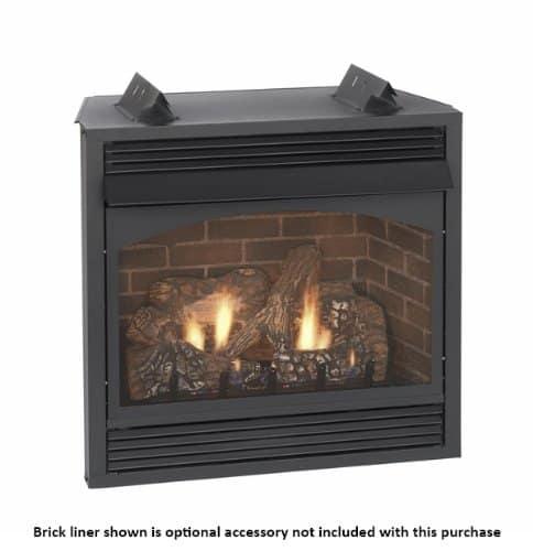 "Empire Vail 36"" Millivolt Vent-Free Premium Fireplace with Blower - Liquid Propane"