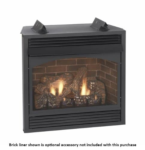 """Empire Vail 36"""" Millivolt Vent-Free Premium Fireplace with Blower - Natural Gas"""