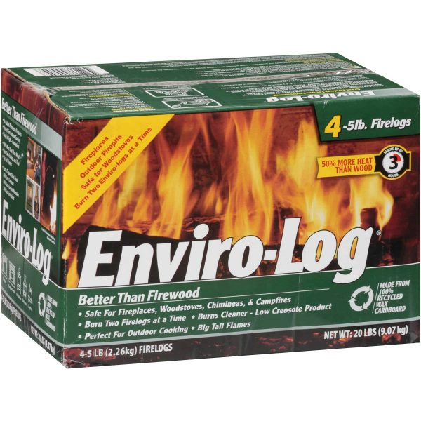 Enviro-Log 4 Pack/5 lb. Firelog Case 1
