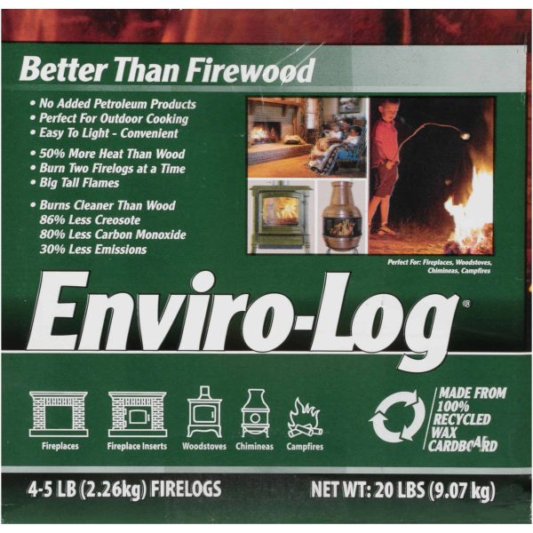 Enviro-Log 4 Pack/5 lb. Firelog Case 2