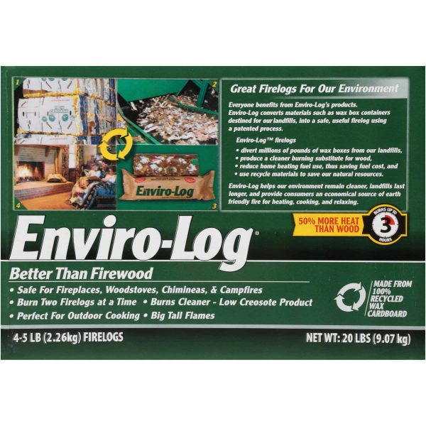 Enviro-Log 4 Pack/5 lb. Firelog Case 4